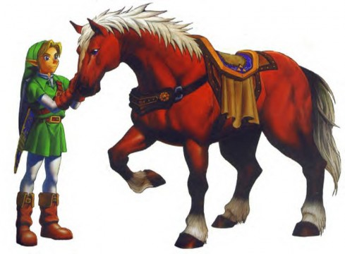 Epona and Link, The Legend of Zelda: Ocarina of Time artwork