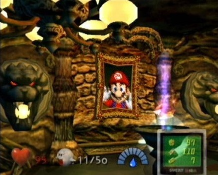 Luigi's Mansion Mario Screen