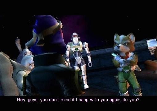 Star Fox Adventures Falco Screen