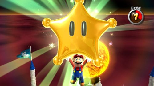 Super Mario Galaxy Grand Star Screen