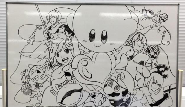 Super Smash Bros. 4 whiteboard tease