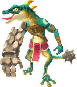 Lizalfo artwork, The Legend of Zelda: Skyward Sword
