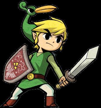 The Legend of Zelda: The Minish Cap, Link artwork