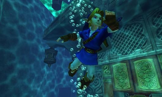 The Legend of Zelda: Ocarina of Time 3D Water Temple screenshot