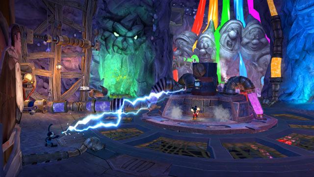Epic Mickey: Power of Two Screenshot - Rainbow Falls