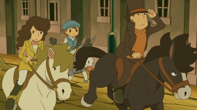 Professor Layton and the Miracle Mask art
