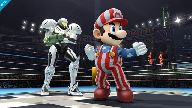 Samus and Mario's new outfits in Super Smash Bros for Wii U and 3DS