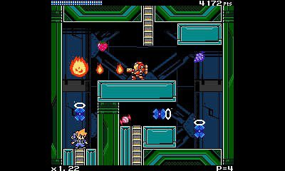 Screenshot of Mighty Gunvolt 3DS