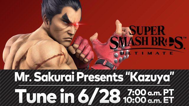 E3 2021: Kazuya Mashima Coming To Smash Ultimate, Sakurai Presents Drops on 06.28